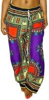 Ninimour Womens Tribal Design Wide Leg Harem Pants M