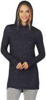 Cuddl Duds Women's Soft Knit Long Sleeve Tunic Hoodie