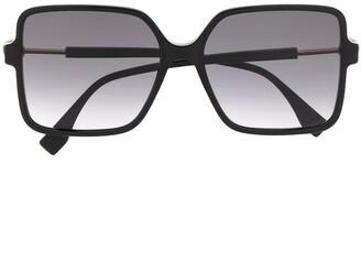 Fendi Eyewear Oversized Square Frame Tinted Sunglasses