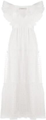 Philosophy di Lorenzo Serafini Floral Ruffled Maxi Dress