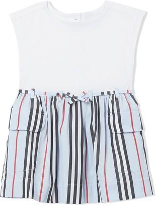 Burberry icon stripe day dress