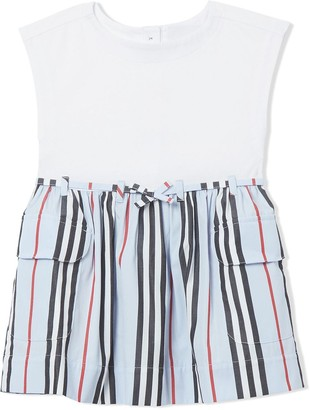 BURBERRY KIDS Icon Stripe Day Dress