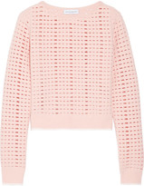 Narciso Rodriguez Cutout Wool And Cashmere-blend Sweater - Blush