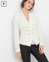 White House Black Market Petite Double-Breasted Jacquard Jacket
