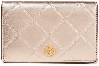 Tory Burch Georgia Metallic Quilted Leather Wallet