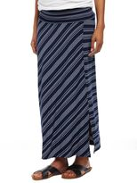 Fold Over Belly Front Slit Maternity Maxi Skirt