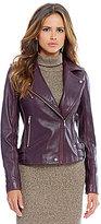 Gianni Bini Joey Leather Moto Jacket