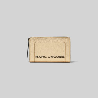 Marc Jacobs The Metallic Textured Box Compact Wallet