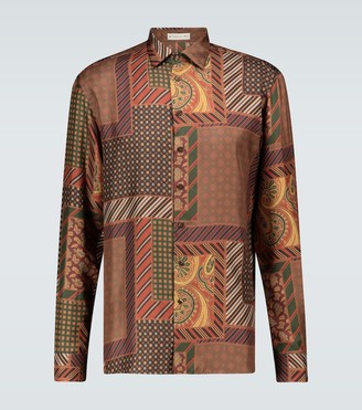 Etro Patchwork long-sleeved printed shirt