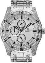 Bulova Mens Crystal-Accent Watch 96C106
