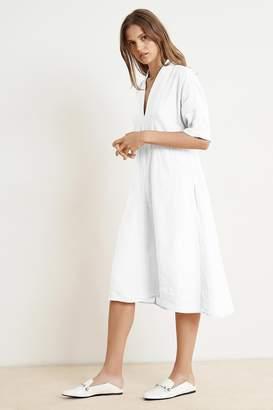 Velvet by Graham & Spencer Velvet By Graham Spencer Winley Woven Linen Short Sleeve Belted Dress