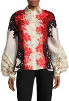 Carolina Herrera Floral Long-Sleeve Shirt