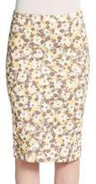 Peserico Floral Pencil Skirt