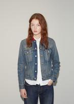 Junya Watanabe Check Collar Denim Jacket