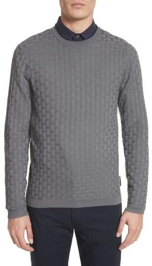 Emporio Armani Slim Fit Woven Links Sweater