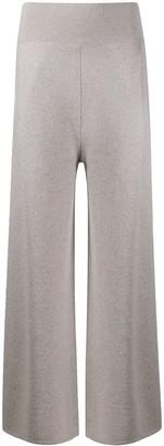 Malo Wide-Leg Knit Trousers