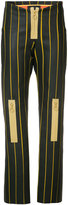 Martina Spetlova bonded strip trousers - women - Lamb Skin/Neoprene - 8