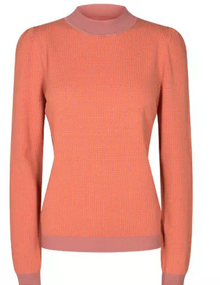 Nümph Nudaisy Powder Pink an Orange Waffle patterned Pullover - XS | pink | viscose - Pink/Pink