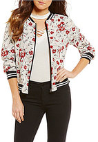 Living Doll Floral Printed Reversible Bomber Jacket