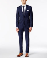 HUGO BOSS HUGO Men's Slim-Fit Blue/Black Windowpane Plaid Suit