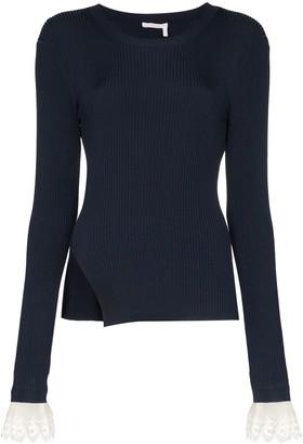 Chloé lace-embellished bodysuit jumper