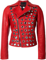 RtA embellished jacket - women - Leather - S