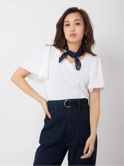 CECIL McBEE (セシル マクビー) - セシルマクビー スカーフ付きリブTシャツ