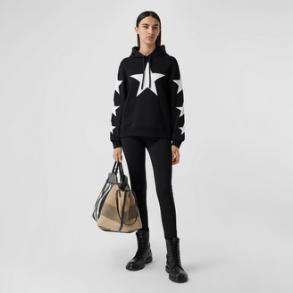 Burberry Star Motif Cotton Oversized Hoodie Size: L