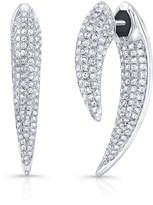 Anne Sisteron Sabre Earrings in White Gold