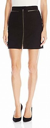ATM Anthony Thomas Melillo Women's Zip Front Suede Mini Skirt