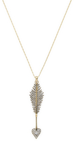 "Mizuki Barley 26"" Charm Diamond Heart Arrow Chain Necklace"