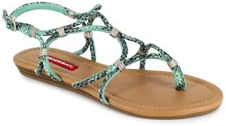 UNIONBAY Greene Snake Skin Print Sandal