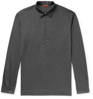 Barena Melange Cotton-Jersey Polo Shirt - Men - Gray