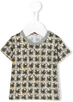 Gold Belgium - cat print T-shirt - kids - Cotton - 3 mth
