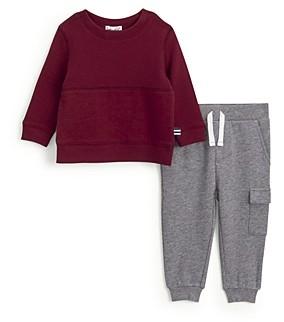 Splendid Boys' Thermal Sweatshirt & Jersey Jogger Pants Set - Baby