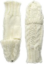Rampage Women's Cable Knit Pop Top Glove, Ivory, One Size