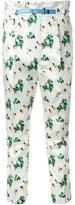 Toga flower print cropped trousers - women - Polyester/Acetate - 36