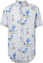 Drumohr printed shirt - men - Linen/Flax - XL
