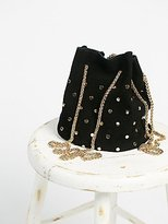 Free People Studded Suede Party Pouch