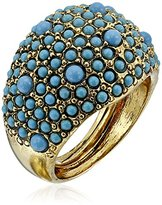 Kenneth Jay Lane Antique Gold-Plated Cluster Ring
