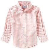 Class Club Little Boys 2T-7 Long-Sleeve Gingham Poplin Sportshirt
