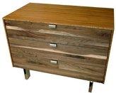 Iannone Design - Wood Stripe 3 Drawer Nightstand