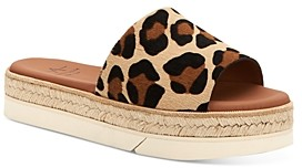Aquatalia Women's Shayna Calf Hair Espadrille Platform Sandals