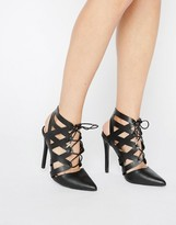 Call it SPRING Nenawien Tie Up Point Heeled Shoes