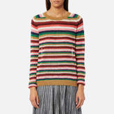 Maison Scotch Women's Soft Striped Pullover Jumper Combo A