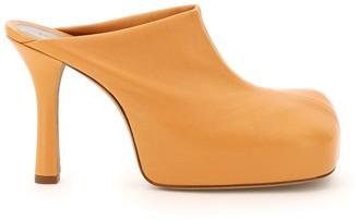 Bottega Veneta BOLD STRETCH NAPPA MULES 37 Orange, Pink Leather