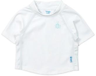 I Play Baby and Toddler Boy or Girl Unisex Short Sleeve Rashguard Swim Shirt, UPF 50+