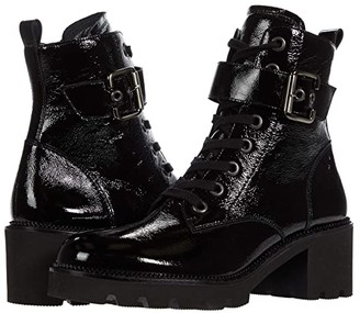 Paul Green Dynamite (Black Crinkled Patent) Women's Shoes