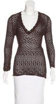 Dolce & Gabbana Open-Knit V-Neck Sweater