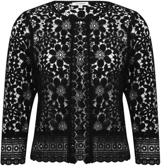 M&Co GLAMOUR crochet lace jacket